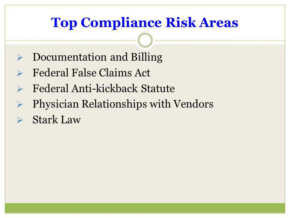 Top Compliance Risk Areas