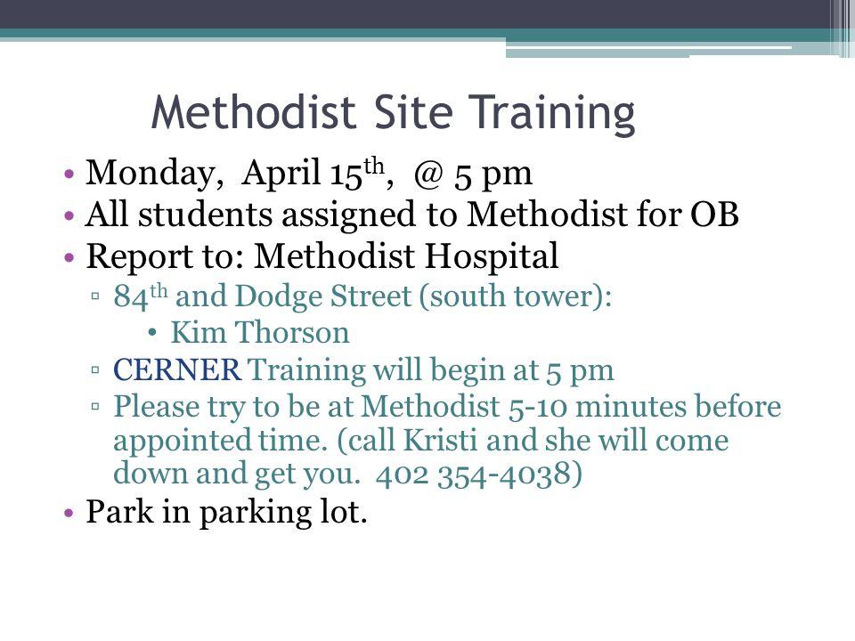 Methodist Site Training