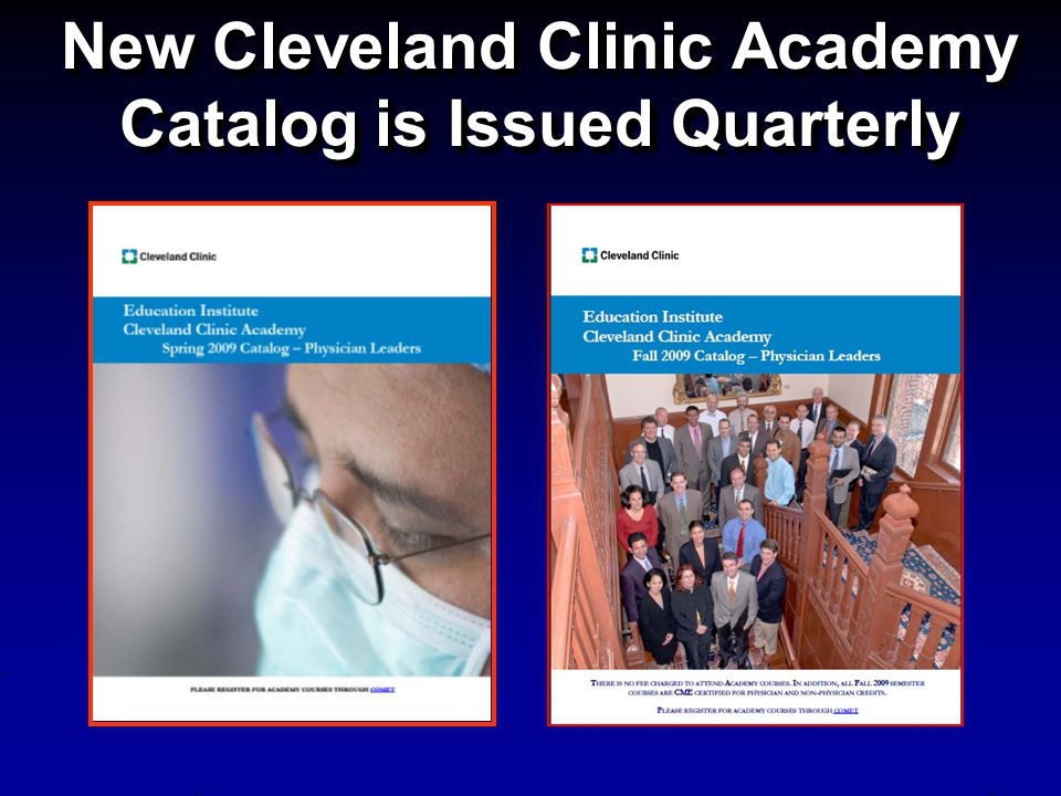 New Cleveland Clinic Academy Catalog is Issued Quarterly