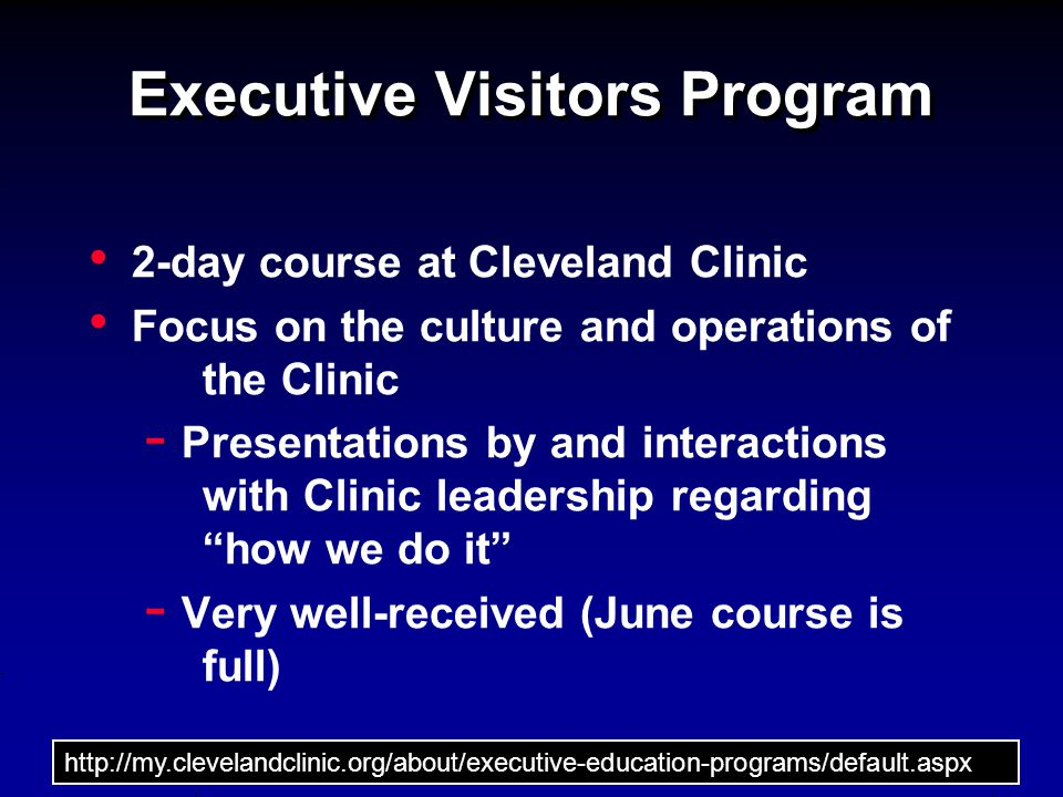 Executive Visitors Program