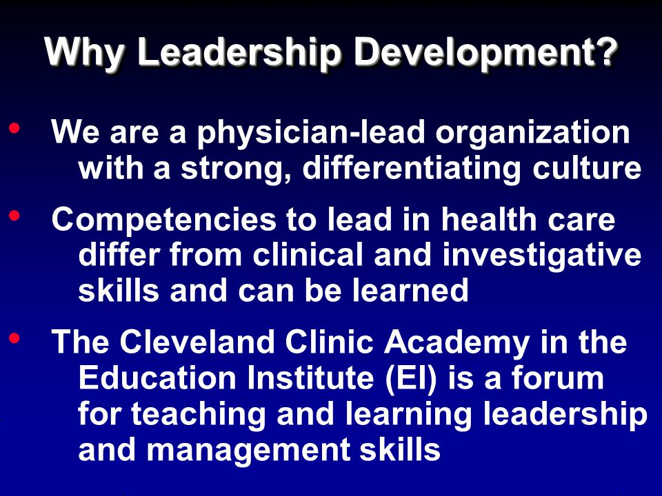 Why Leadership Development