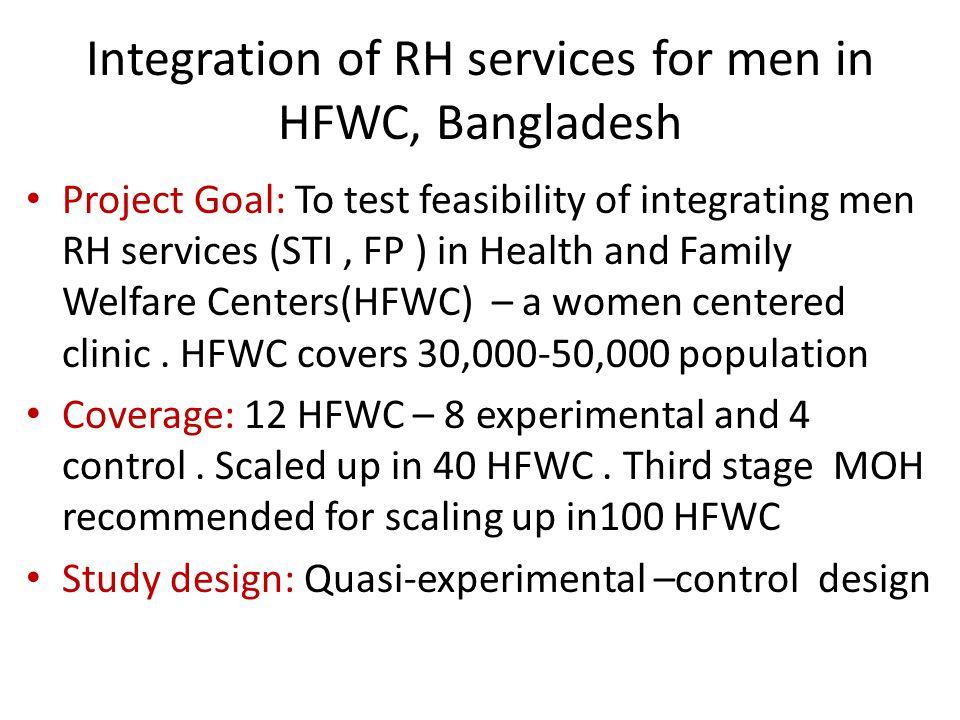 Integration of RH services for men in HFWC, Bangladesh