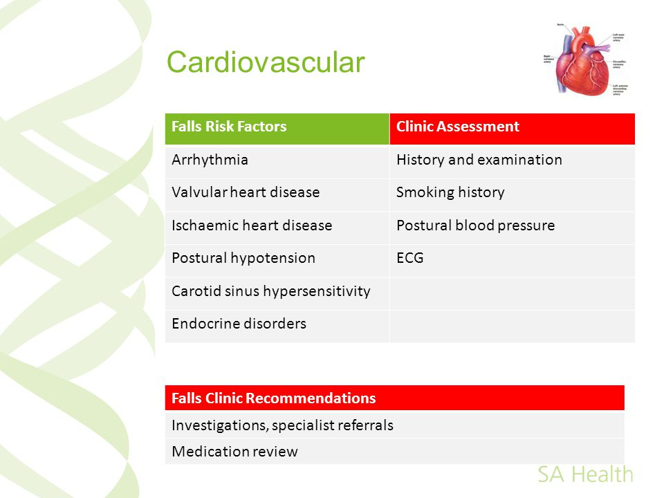 Cardiovascular Falls Risk Factors Clinic Assessment Arrhythmia