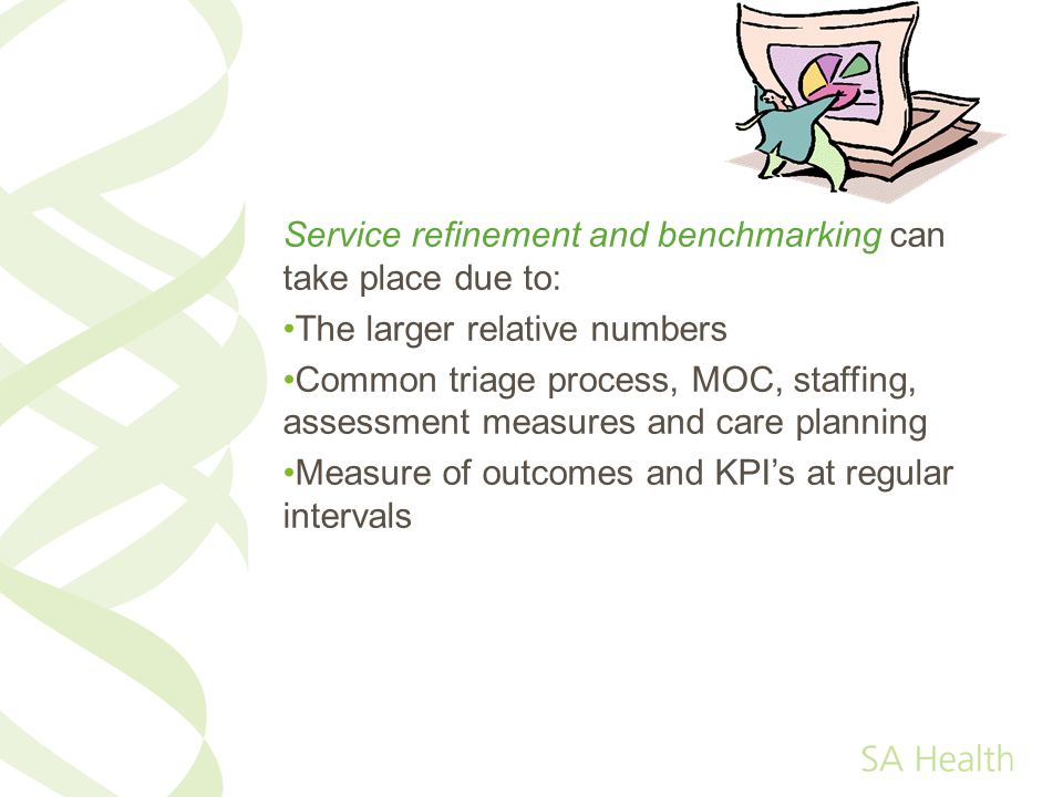 Service refinement and benchmarking can take place due to: