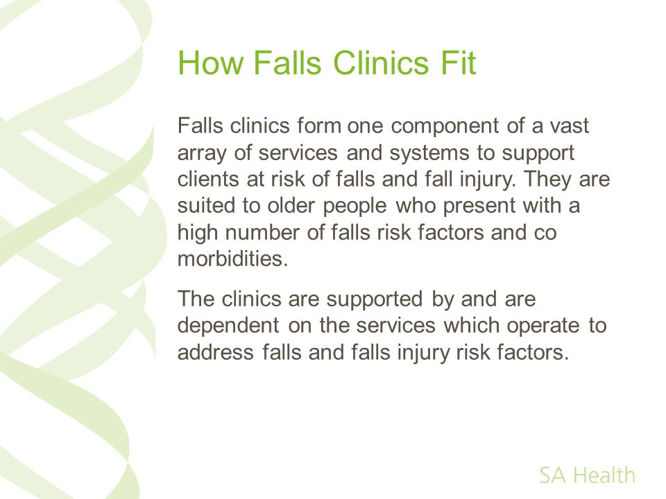 How Falls Clinics Fit