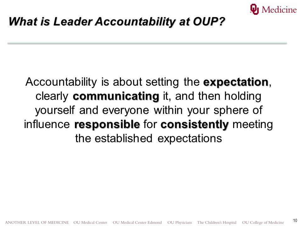 What is Leader Accountability at OUP