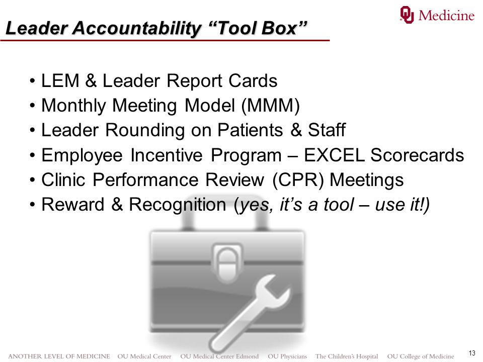 Leader Accountability Tool Box