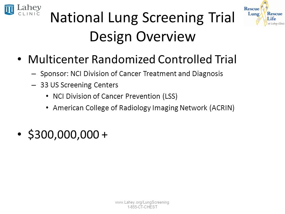 National Lung Screening Trial Design Overview