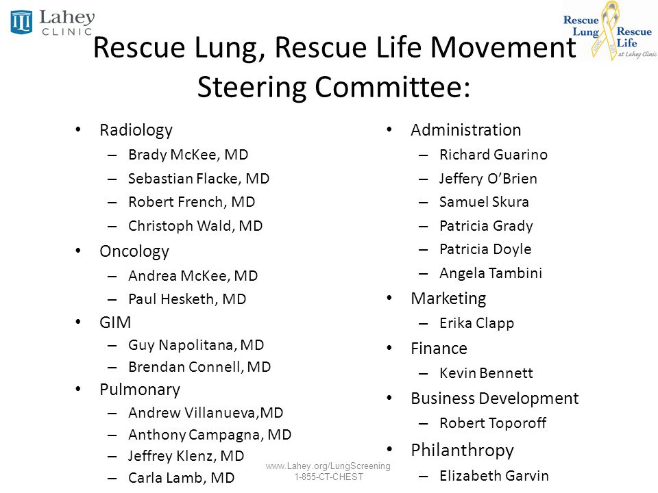 Rescue Lung, Rescue Life Movement Steering Committee: