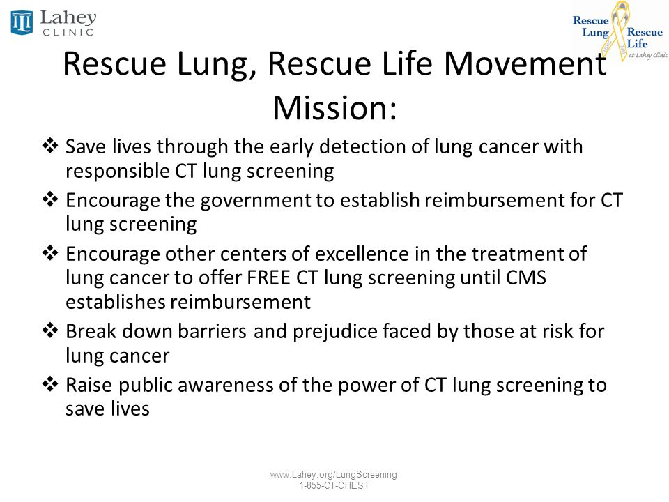 Rescue Lung, Rescue Life Movement Mission: