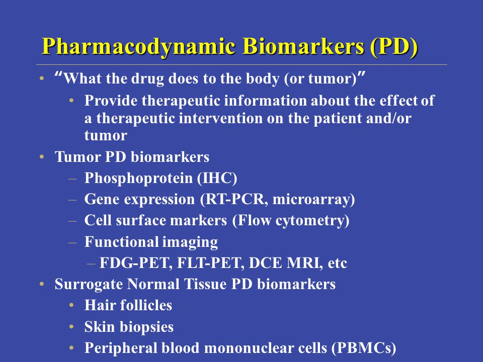 Pharmacodynamic Biomarkers (PD)