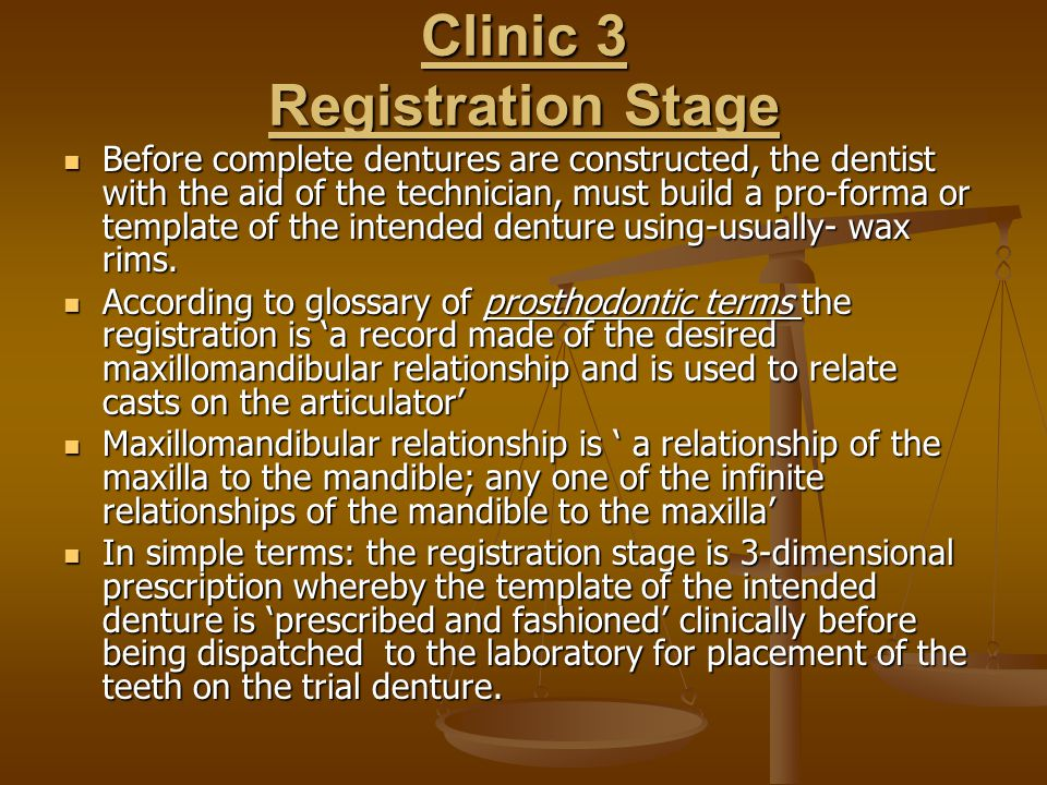 Clinic 3 Registration Stage
