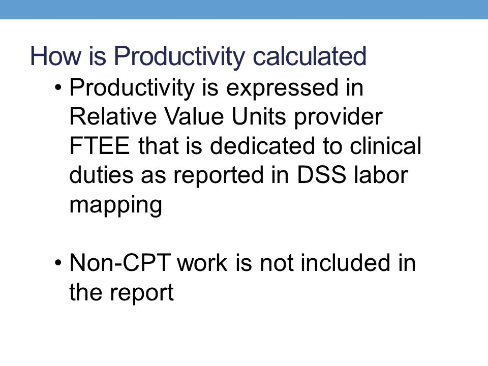 How is Productivity calculated