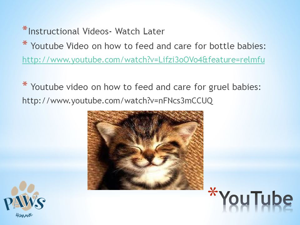 YouTube Instructional Videos- Watch Later