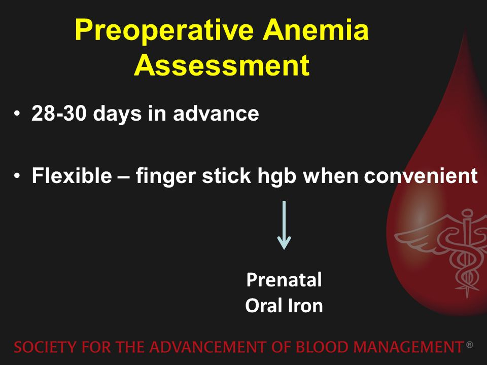 Preoperative Anemia Assessment