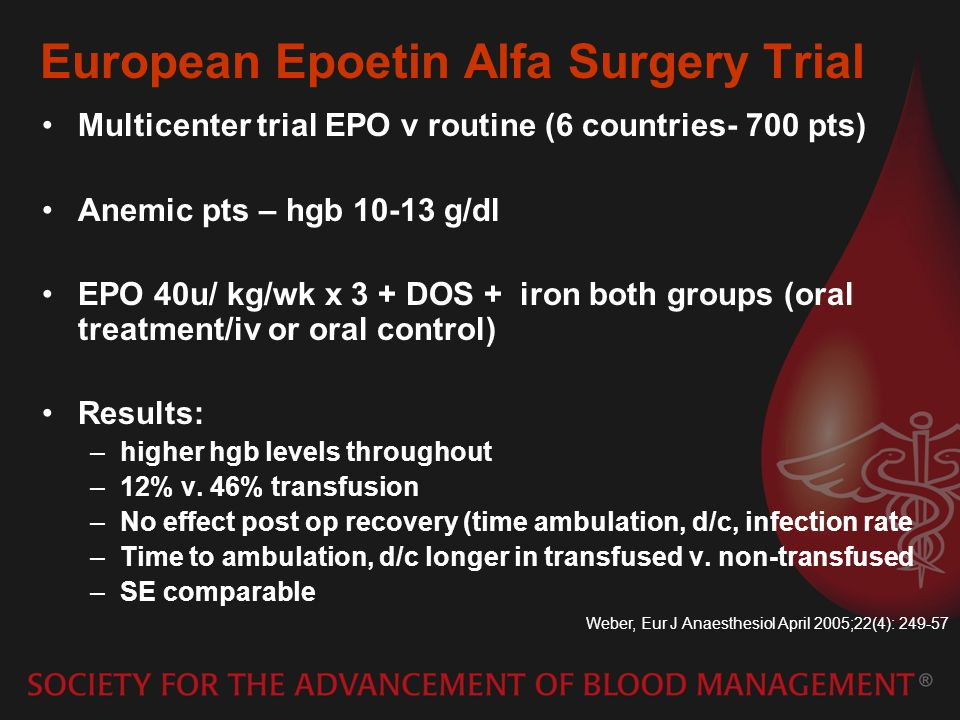 European Epoetin Alfa Surgery Trial