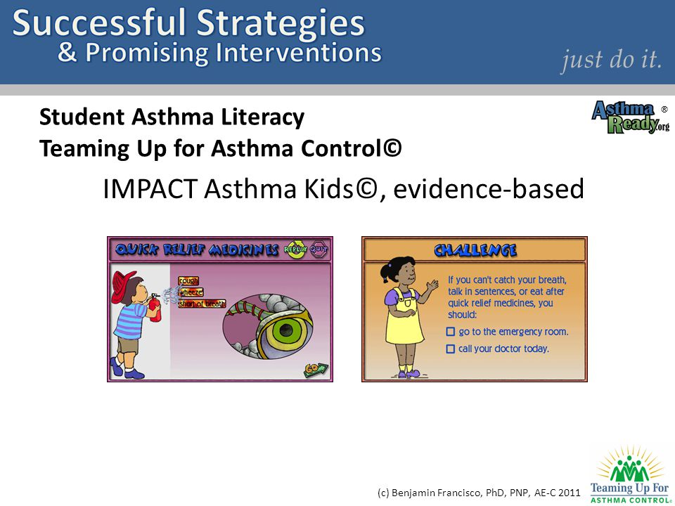 Student Asthma Literacy Teaming Up for Asthma Control©