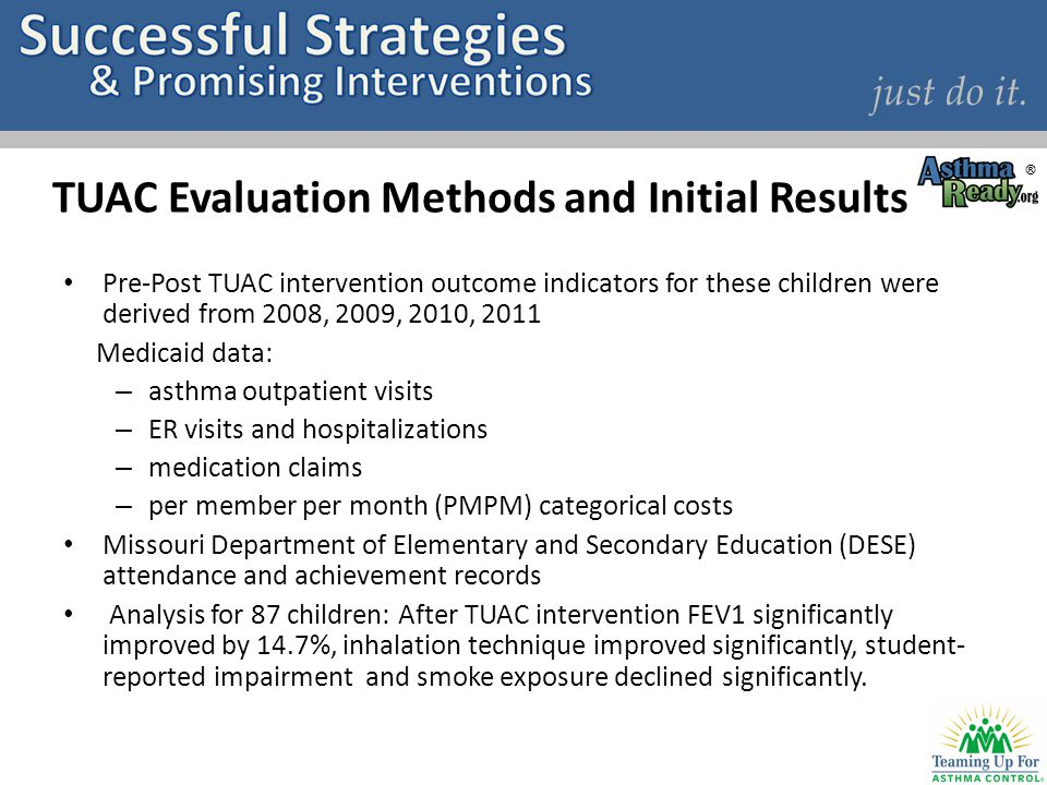 TUAC Evaluation Methods and Initial Results