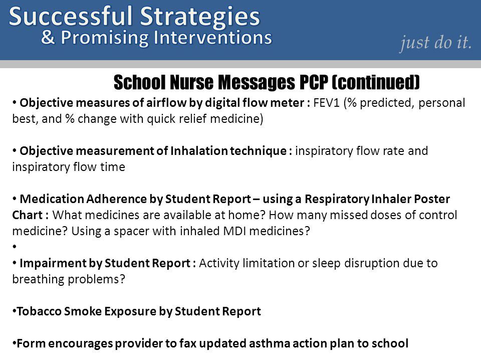 School Nurse Messages PCP (continued)