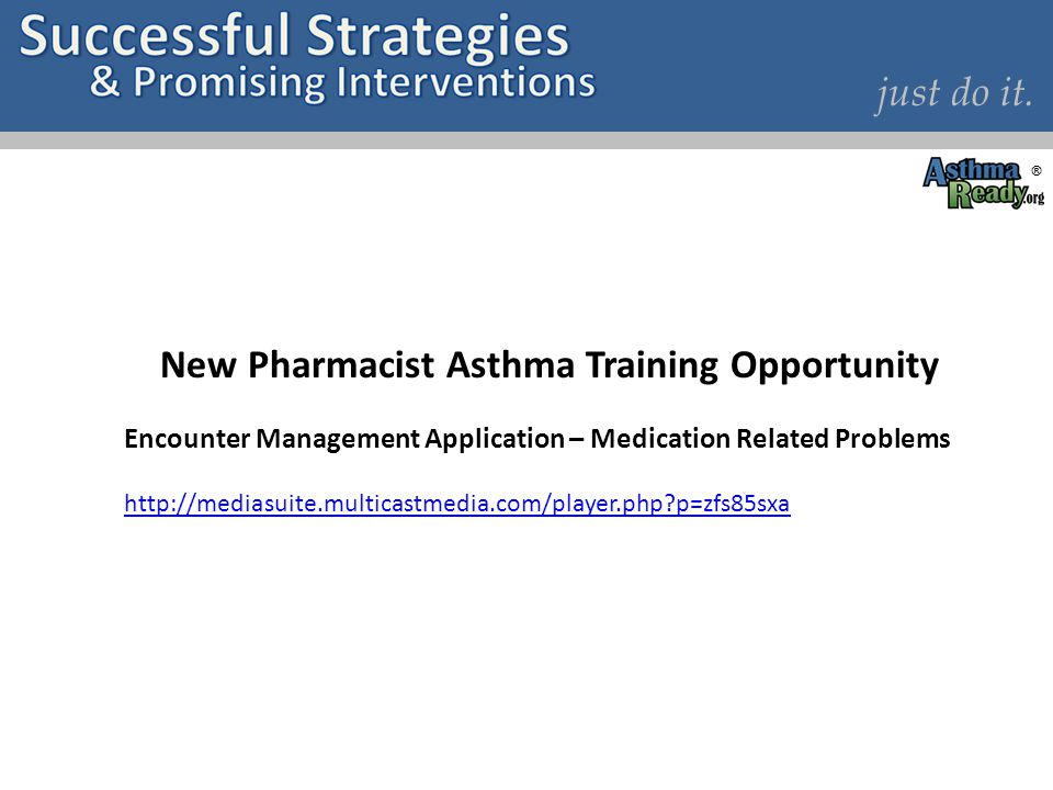 New Pharmacist Asthma Training Opportunity