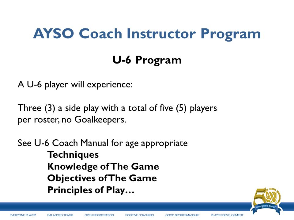 AYSO Coach Instructor Program