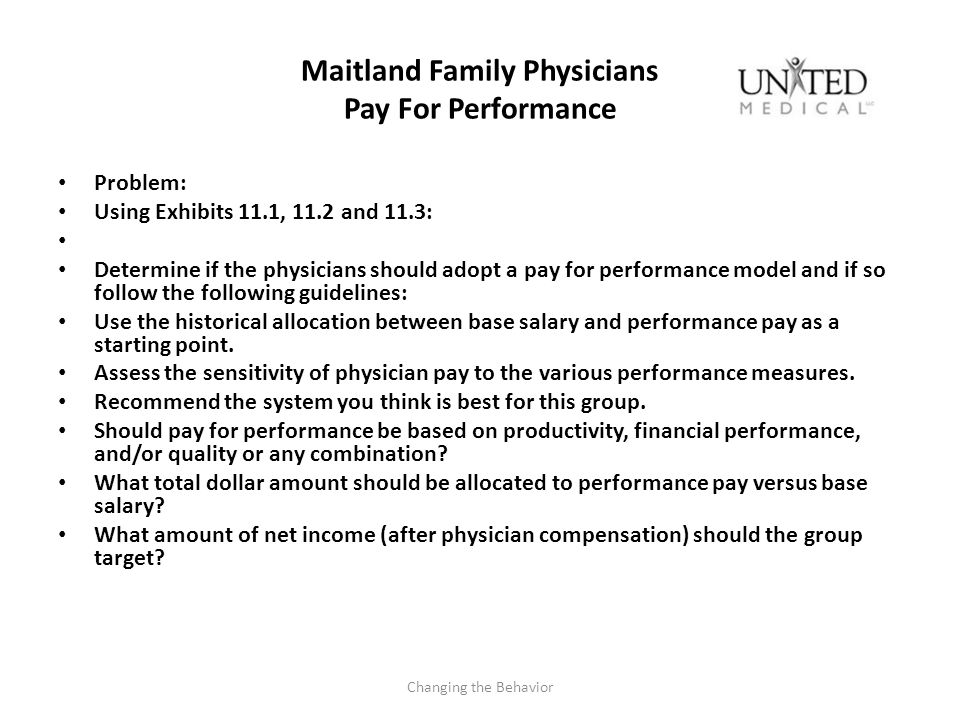 Maitland Family Physicians Pay For Performance