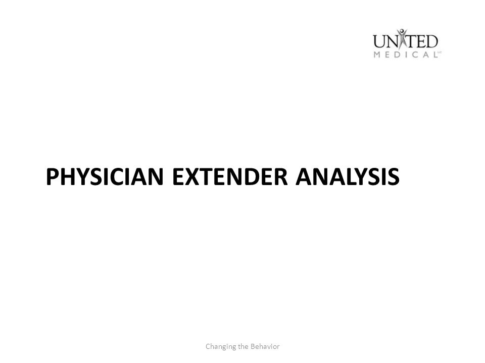 Physician Extender Analysis