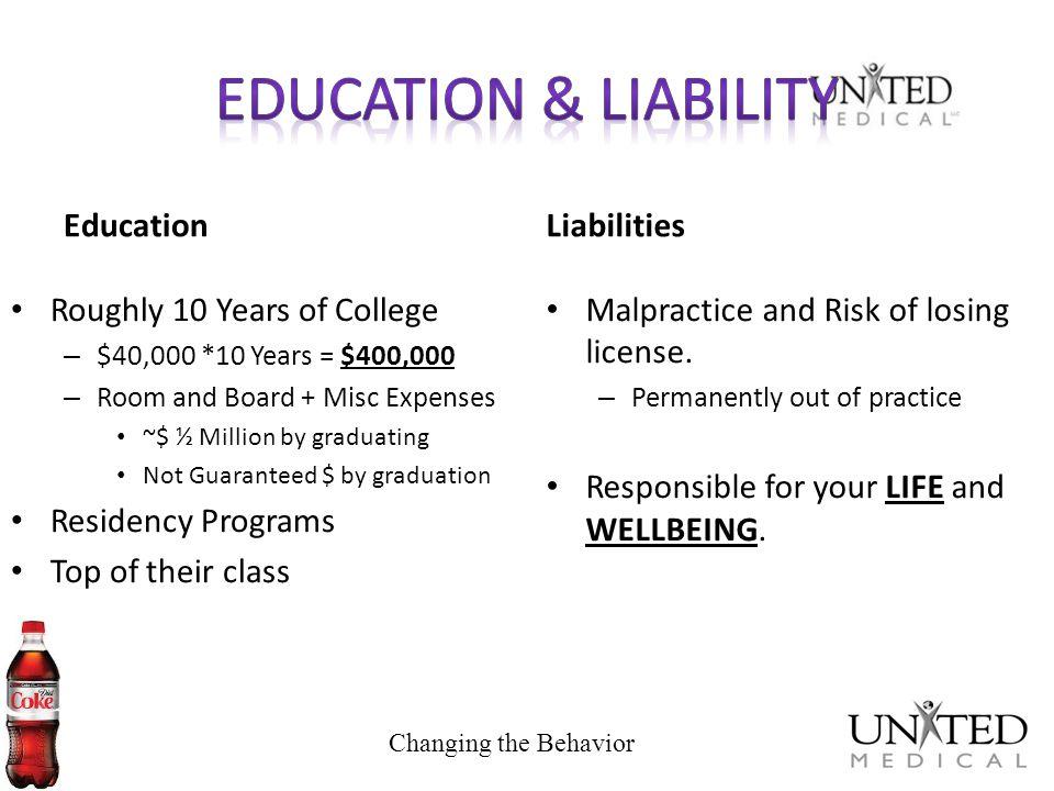 Education & Liability Education Liabilities