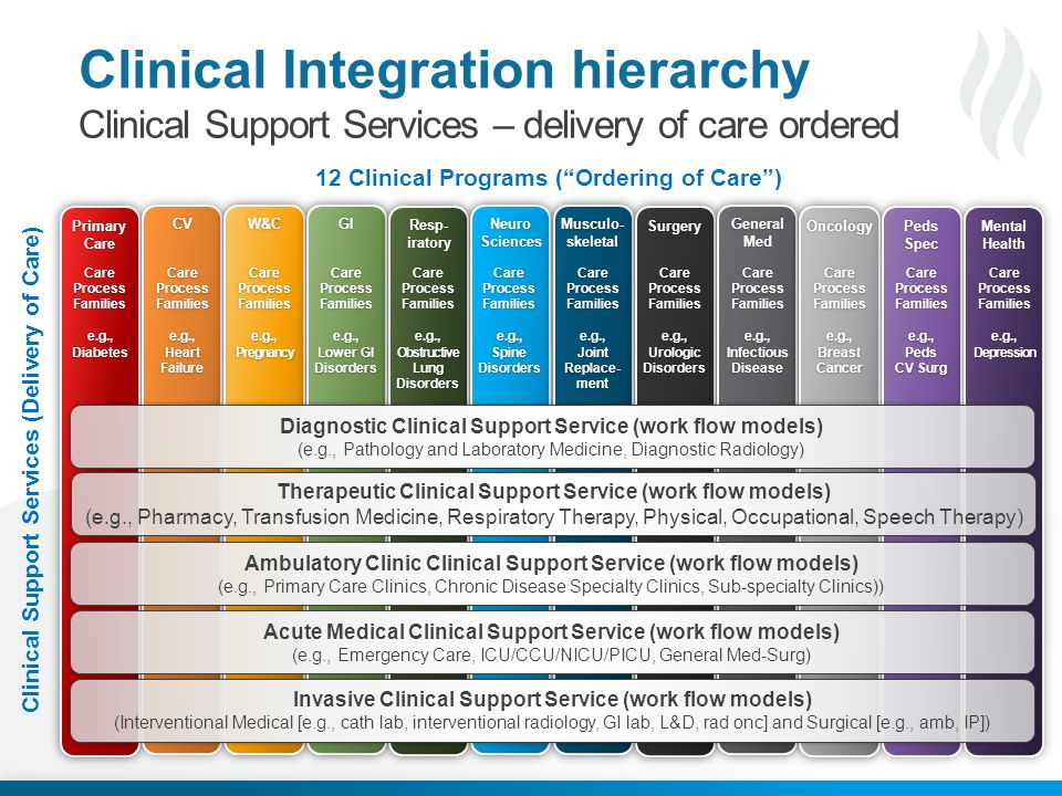 Clinical Integration hierarchy