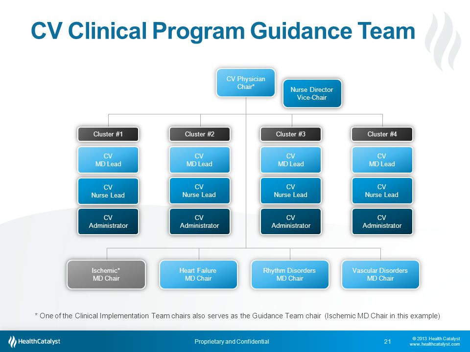 CV Clinical Program Guidance Team