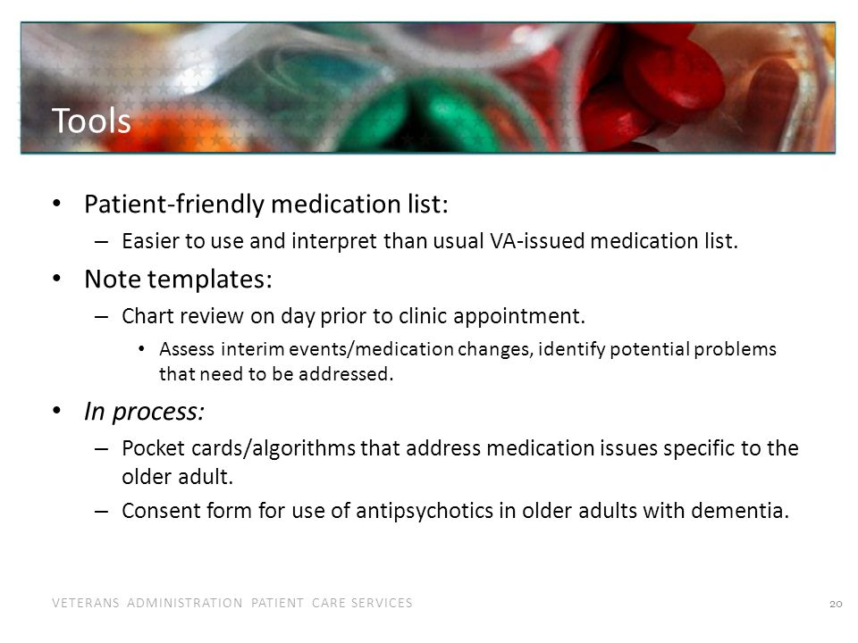 Example Medication Reconciliation List