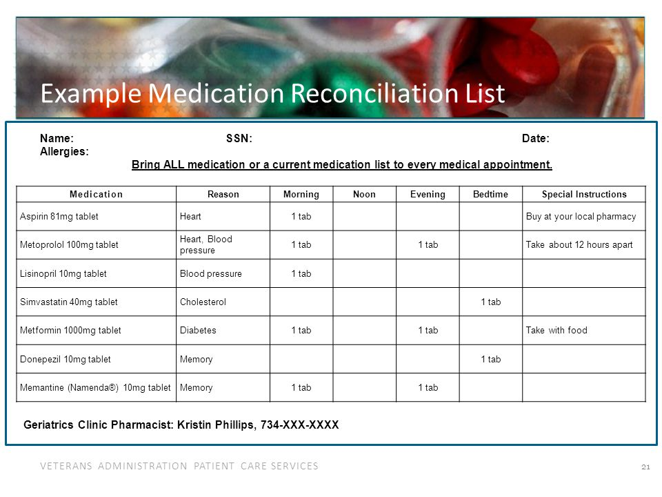Medication Issues Specific to Older Adults