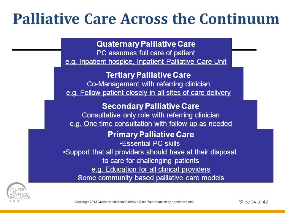 Palliative Care Across the Continuum