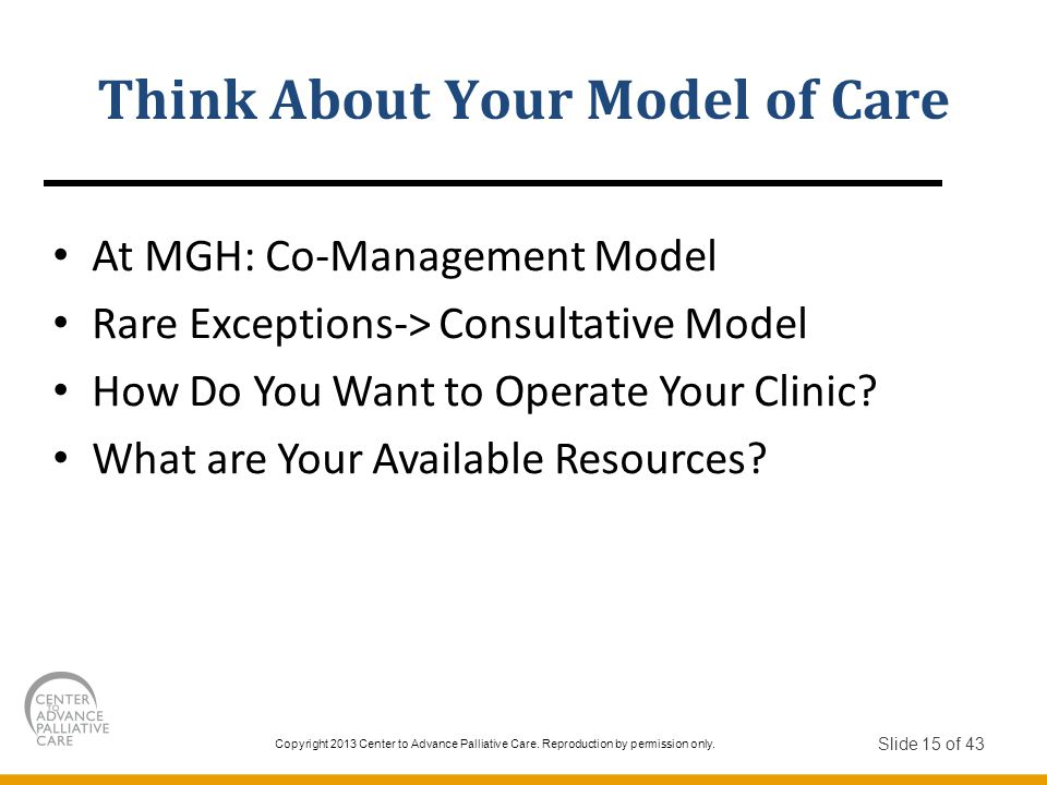 Think About Your Model of Care