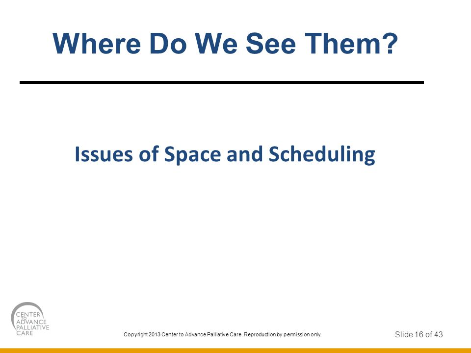 Issues of Space and Scheduling