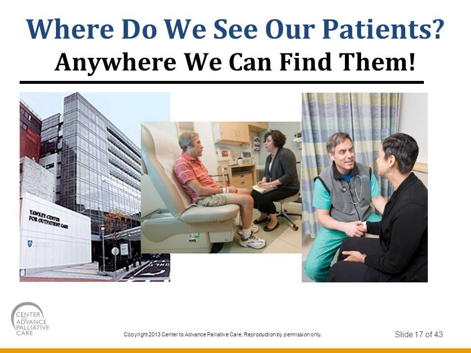 Where Do We See Our Patients Anywhere We Can Find Them!