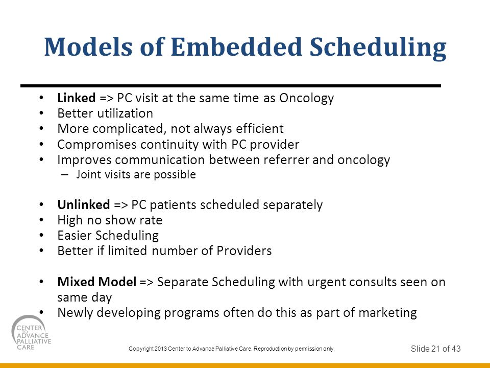 Models of Embedded Scheduling