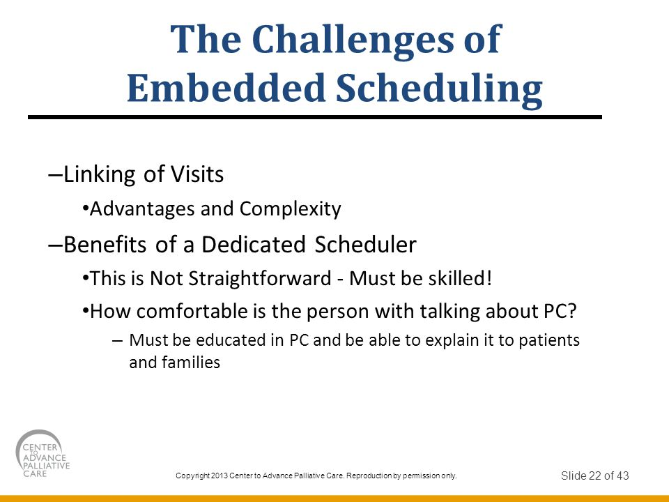The Challenges of Embedded Scheduling