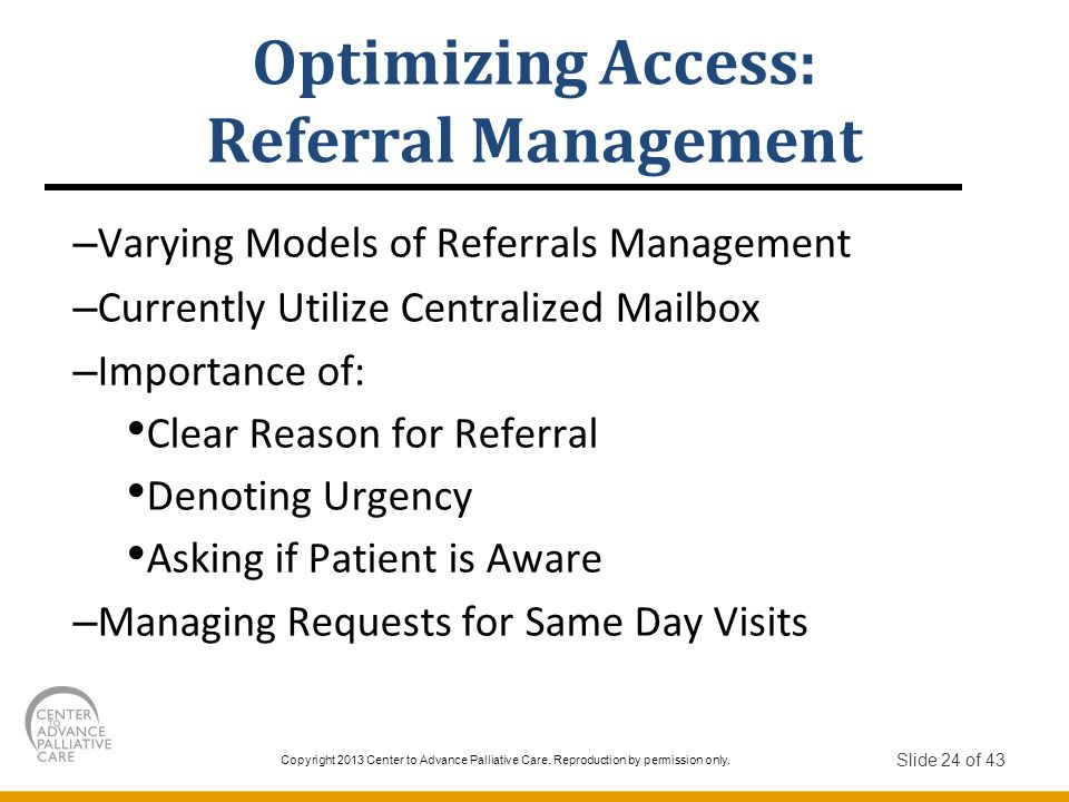 Optimizing Access: Referral Management