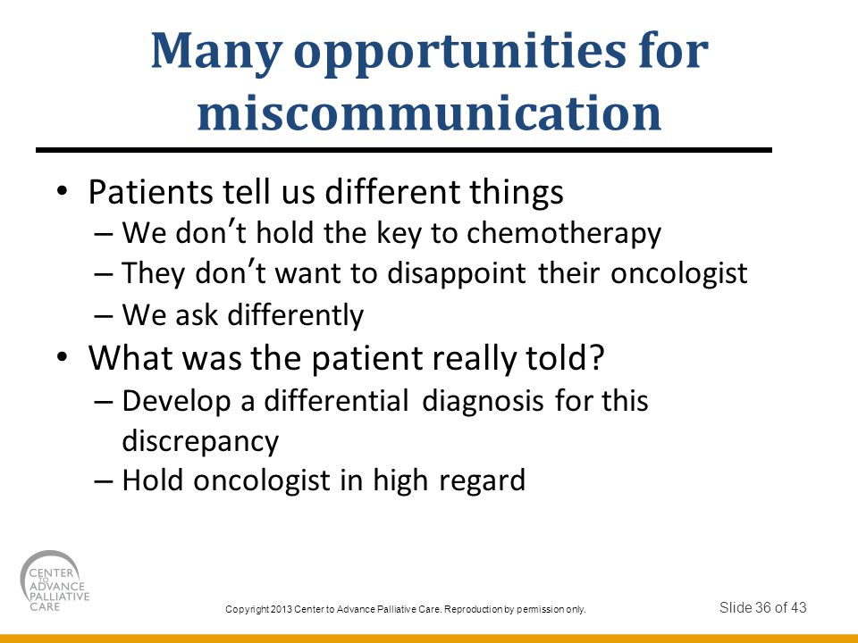 Many opportunities for miscommunication