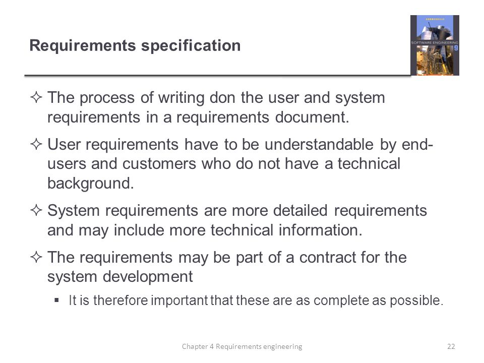 Requirements specification