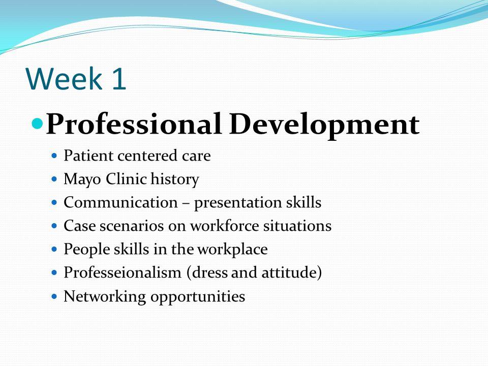 Week 1 Professional Development Patient centered care