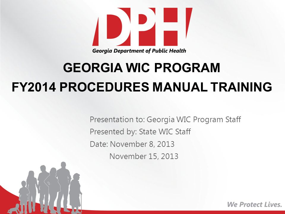 FY2014 PROCEDURES MANUAL TRAINING