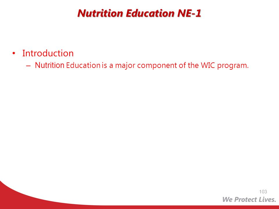 Nutrition Education NE-1