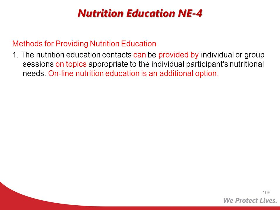 Nutrition Education NE-4