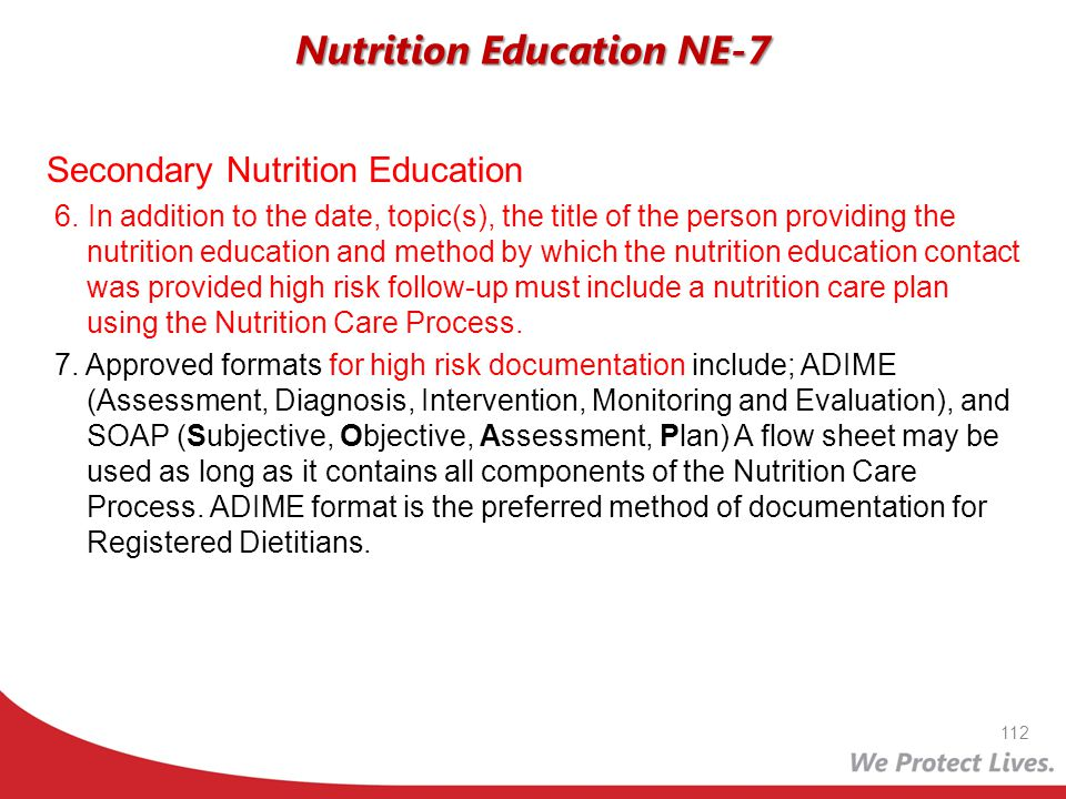 Nutrition Education NE-7