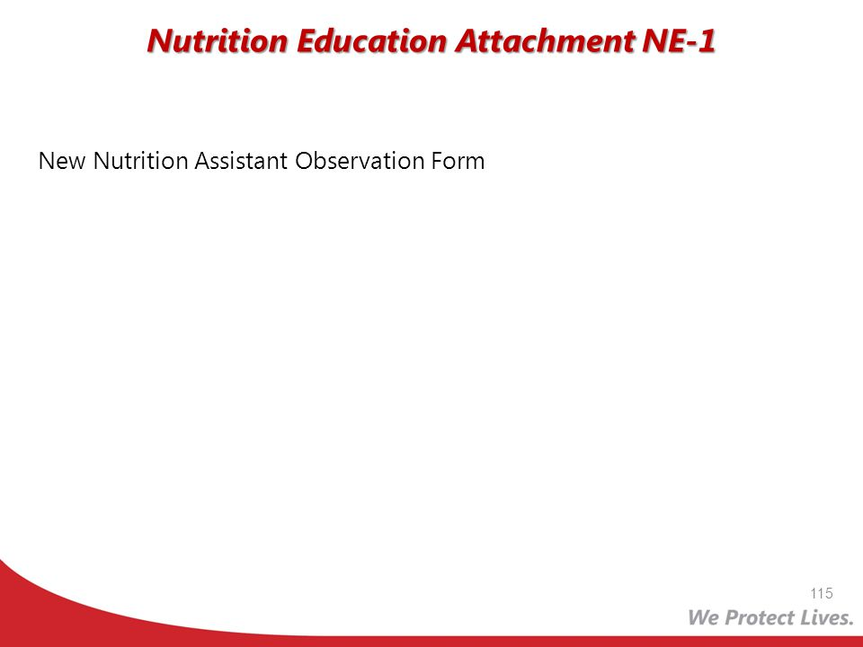 Nutrition Education Attachment NE-1