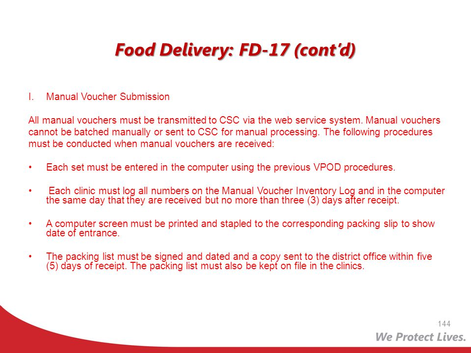 Food Delivery: FD-17 (cont'd)