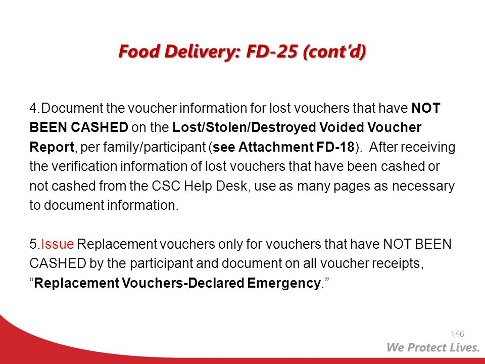 Food Delivery: FD-25 (cont'd)