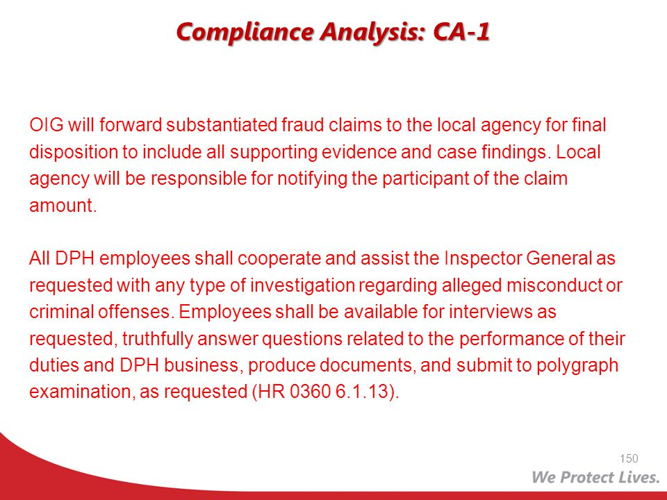 Compliance Analysis: CA-1
